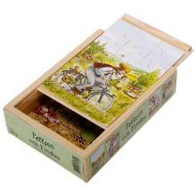Findus och Pettson 4 x trä pussel