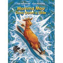 Mamma Moo goes down a slide
