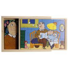 Alfons 4 x trä pussel