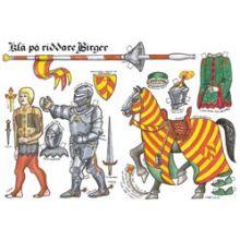 Klä på Riddare Birger A3-kort
