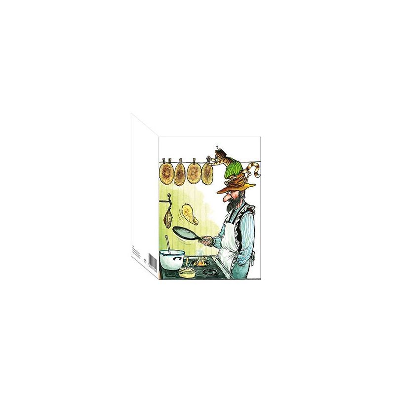 Pettson och Findus dubbelt kort med kuvert