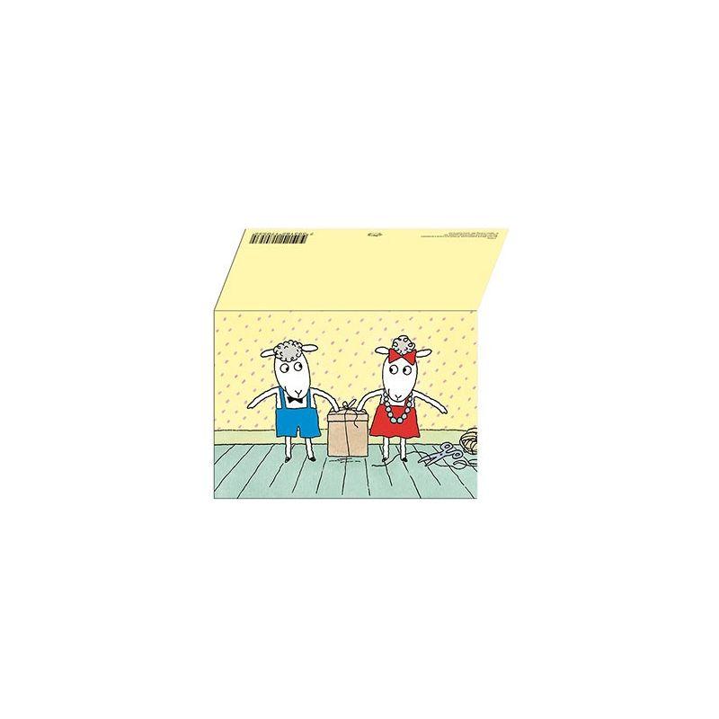 Bu och Bä dubbelt kort med kuvert