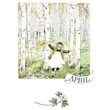 April - Linneas månadsbilder  - Vykort