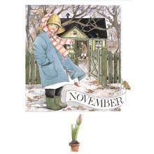 November - Linneas månadsbilder  - Vykort