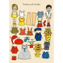 Tommy och Annika klippdocka A4