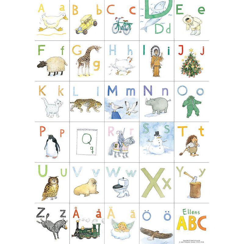 Ellens ABC alfabetsaffisch