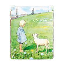 Bä bä vita lamm affisch
