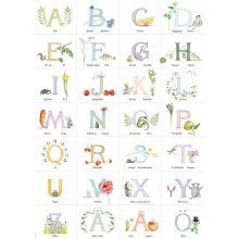 Alfabetsaffisch med Majas ABC