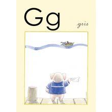 "Alfabetsposter - Lilla ""t"" G"