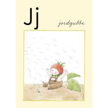 """Alfabetsposter - Lilla """"t"""" J"""