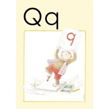"Alfabetsposter - Lilla ""t"" Q"