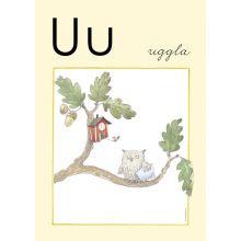 """Alfabetsposter - Lilla """"t"""" U"""