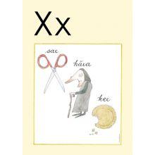"""Alfabetsposter - Lilla """"t"""" X"""