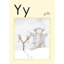 """Alfabetsposter - Lilla """"t"""" Y"""