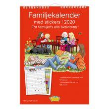 Familjekalender med stickers 2020