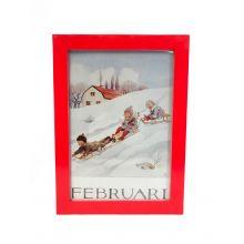 Månadsbild - Februari, Beskow A4 TAVLA